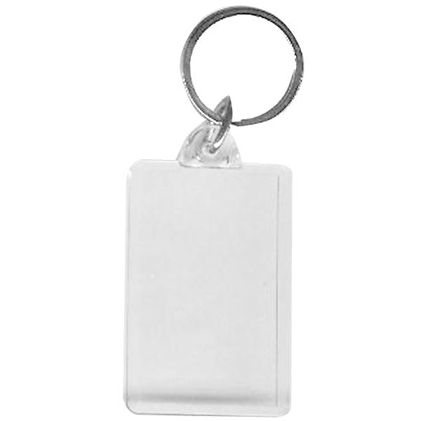 BLANK - Snap-In Jumbo Rectangle Flat Key Tag-[BW-27071