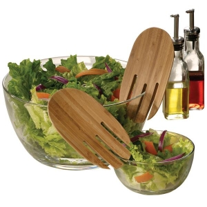 Bamboo Salad Serving Hands  -[ZL-25007] - Promotional Products