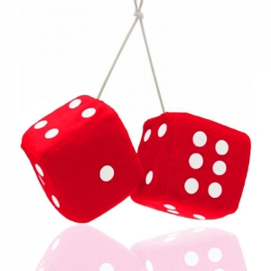 Fuzzy Rear View Mirror Dice - Promotional Products