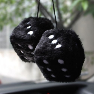 Soft Cubes Fuzzy Car Dice - Promotional Products