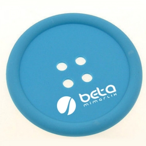 Button Shape Silicone Coasters - Promotional Products
