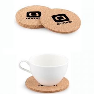 Vintage Cork Round Coasters - Promotional Products
