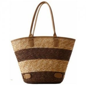 Women Striped Durable Tote Beach Bag - Promotional Products