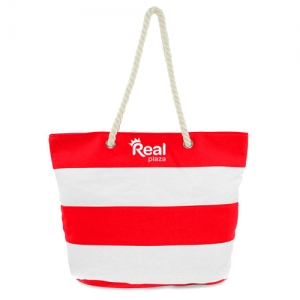 Ladies Leaves Canvas Beach Bags - Promotional Products