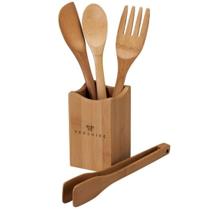 Vierge Bamboo Utensil Set-[LM-28030] - Promotional Products