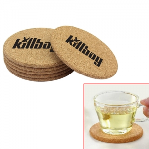 Round Shape Plain Cork Coaster Mat - Promotional Products