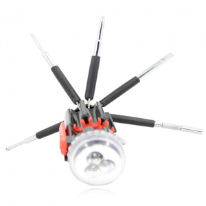 Multi 8 in 1 Screwdriver Set Torch Flashlight - Promotional Products