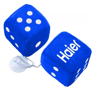 Fuzzy Dots Rear View Mirror Hangers - Promotional Products