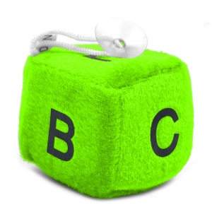 Lovely Alphabet Car Fuzzy Dice - Promotional Products