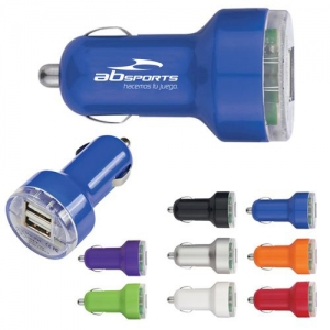 Dual USB Mini Car Charger - Promotional Products