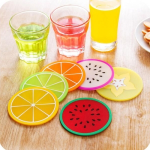 Fruit Design 6 Piece Drink Coaster - Promotional Products