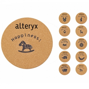 Round Wood Cork Coaster - Promotional Products