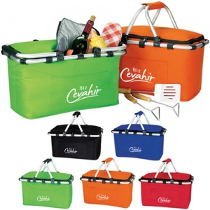 Foldable Insulated Picnic Basket - Promotional Products