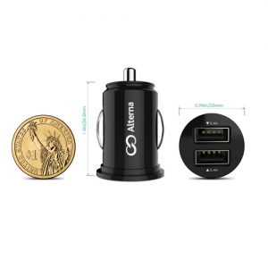 Portable 2 Port USB Car Charger Adapter - Promotional Products