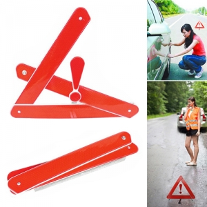 Automobile Foldable Reflective Triangle Warning Sign - Promotional Products