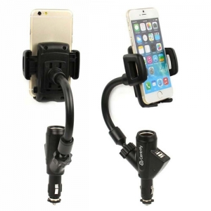 Dual USB Port Car Mount Holder Charger - Promotional Products