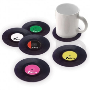 Retro Vinyl Record Coaster - Promotional Products