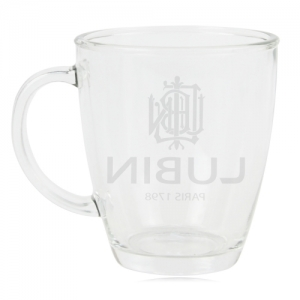 Frosted Bam Handled Glass Cup - Promotional Products